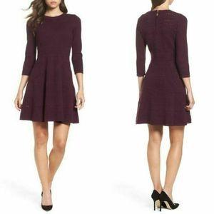 Eliza J Fit & Flare Sweater Dress XL